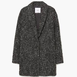 Mango Oversized Flecked Wool Jacket XS